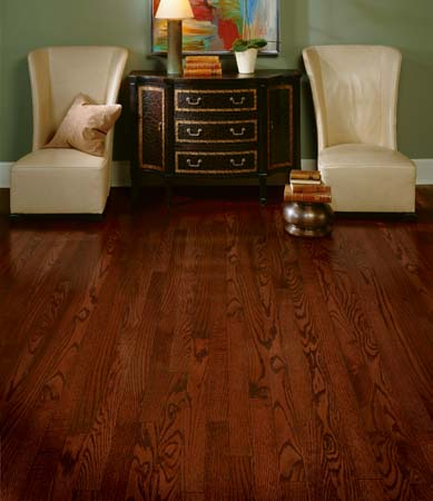 hardwood with red tones
