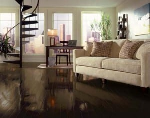 Chocolate brown espresso hardwood floors - Westchester NY