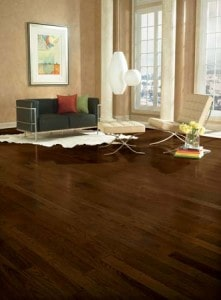 Westchester hardwood flooring - refinish wood - dark stain