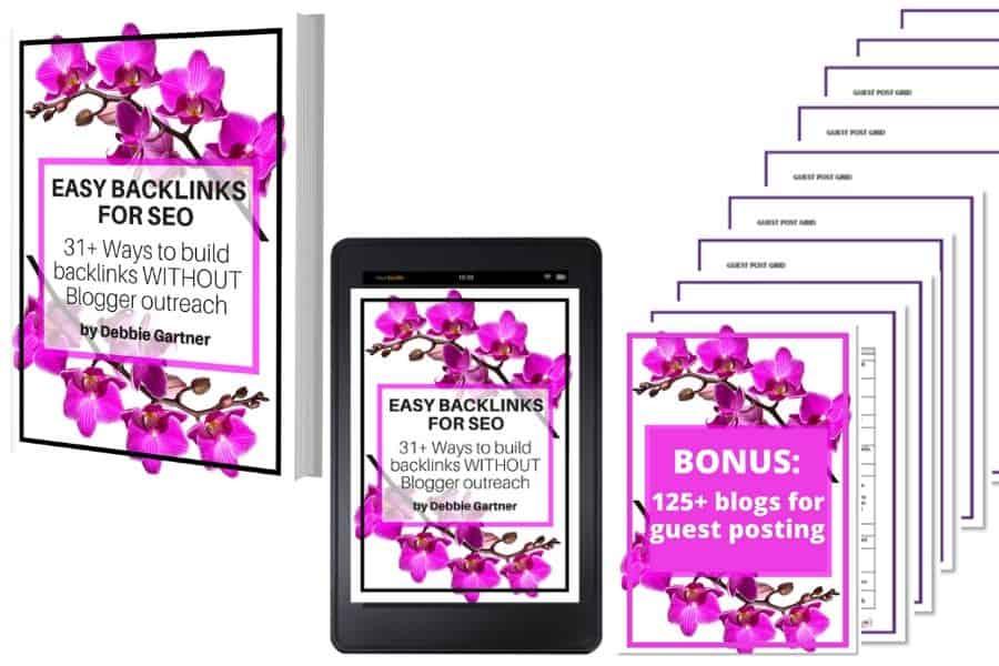 Easy backlinks for SEO ebook package