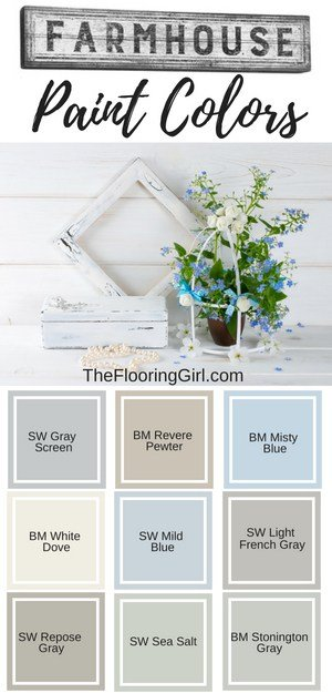 Farmhouse paint colors - best shades for farmhouse style decor