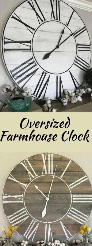 farmhouse style clock - Easy ways to add Farmhouse Decor