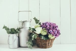 farmhouse style decor - add some flowers