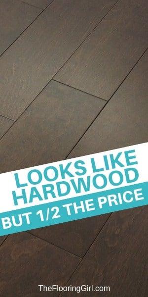 Less expensive alternatives to hardwood flooring. #cheaper #hardwood #alternatives