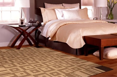 Geometric patterns for carpet tile