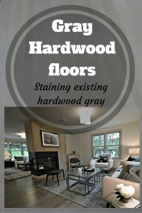 Gray Hardwood floors - staining existing hardwood floor gray