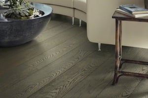 gray hardwood flooring - wire brushed - Hardwood flooring trends for 2019