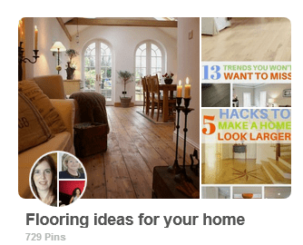 Pinterest group board - flooring ideas for your home