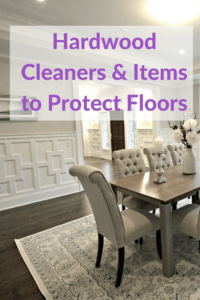 hardwood cleaners and items to reduce scratches
