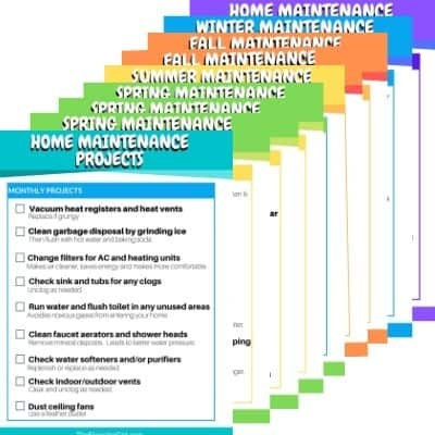 Home Maintance checklist by season