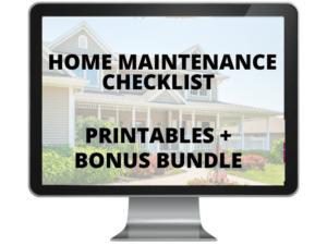 Home maintenance checklist + bonus bundle