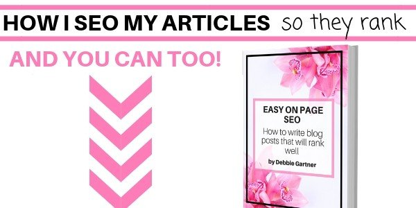 How I SEO my articles so they rank well on SEO
