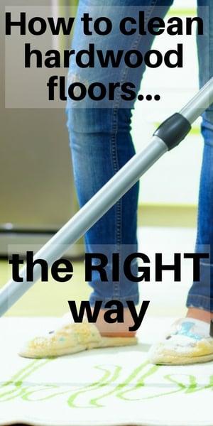 tips for cleaning hardwood floors