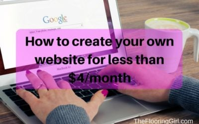 How to create your own website for less than $4 per month
