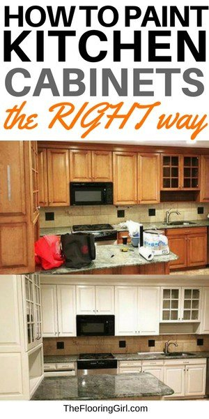 How To Paint Cabinets The Right Way The Flooring Girl