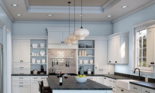 Kitchen with Icelandic from Sherwin Williams