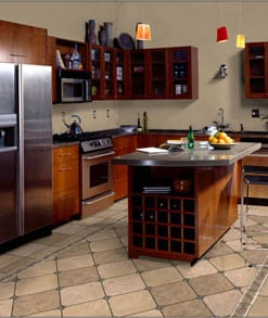 Tile flooring for kitchen