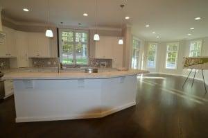 dark hardwood floors in kitchen open floor plan