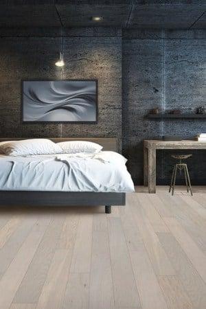 Scandinavian white washed hardwood made with Bona NordicSeal
