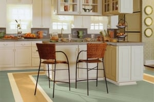 durable flooring choices for kitchen - linoleum