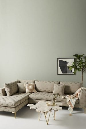 sofa and chaise lounge mid-century modern decor