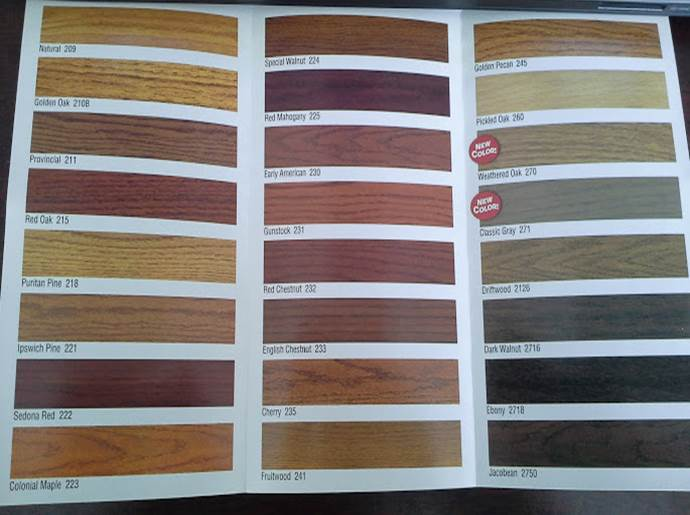 minwax stain samples - hardwood floor colors