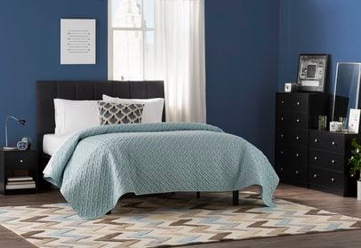 best bedroom paint colors - navy and blue