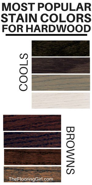 Most popular stain colors for hardwooding