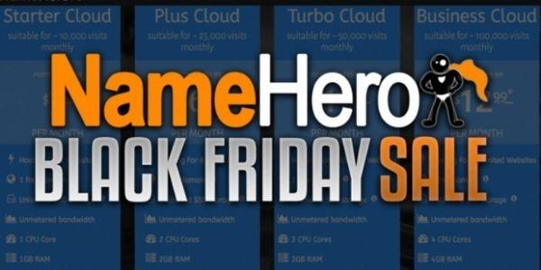 Black Friday sale - NameHero hosting
