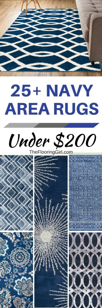 Affordable navy area rugs that you can buy online for under $200