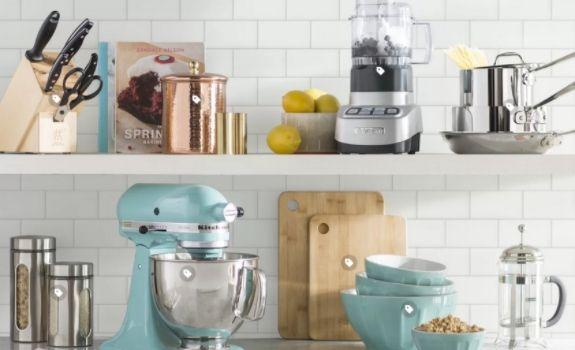 Kitchenaid mixer with open shelving