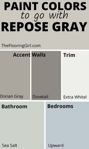 Coordinating Paint Color for Repose gray