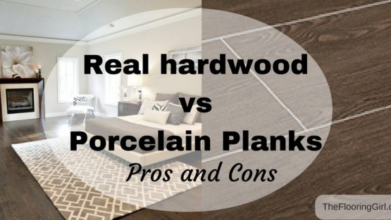 Hardwood flooring vs Tile Planks that look like hardwood.  Pros and Cons.