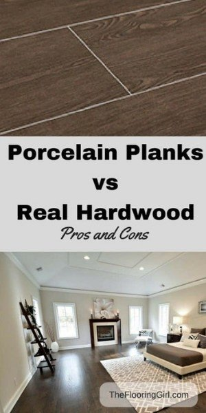 Solid hardwood vs porcelain tiles that look like wood - pros and cons