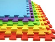 Rainbow soft foam tiles interlocking - tips to prevent scratches from kids on hardwood