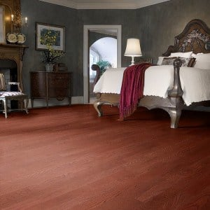 cherry stained oak hardwood flooring in westchester
