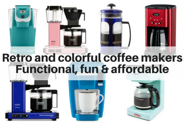 Colorful and Retro Coffee Makers