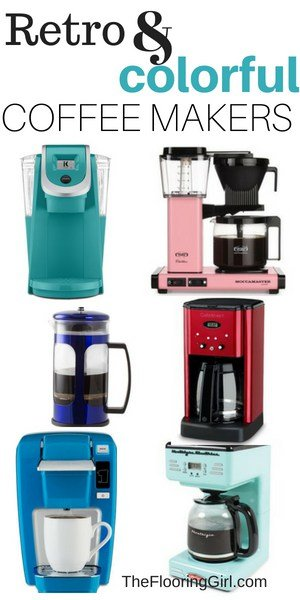 retro and colorful coffee makers