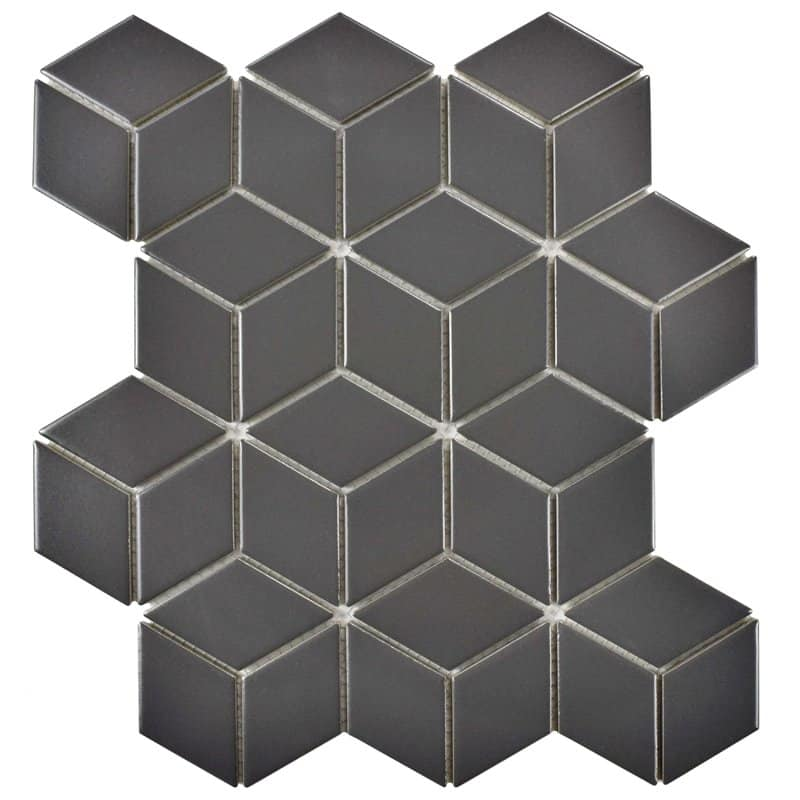 retro rhombus vintage tiles - geometric tiles for powder rooms