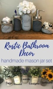 farmhouse and rustic decor - mason jar