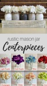 mason jars for farmhouse and rustic decor