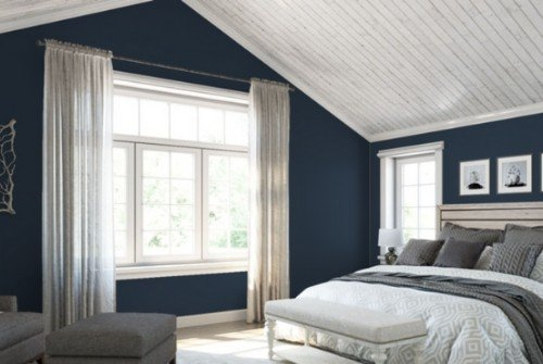 Sherwin Williams Naval for bedroom - how to reduce the paint cost