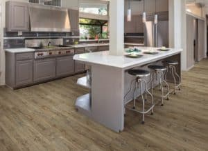 engineered vinyl plank - good for kitchens