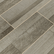 Sierra Tile in gray - faux wood tile with wood grain
