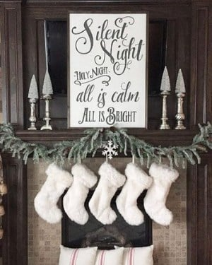 Farmhouse Chistmas sign - Silent night