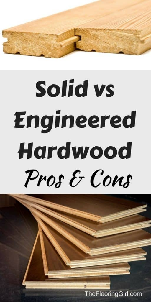difference between solid and engineered hardwood