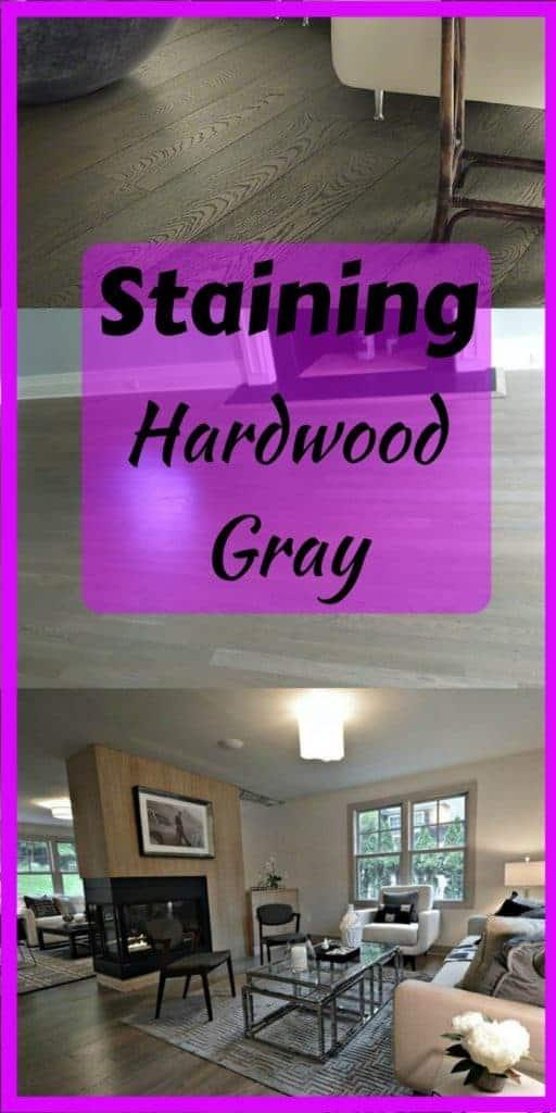 Staining hardwood floors gray