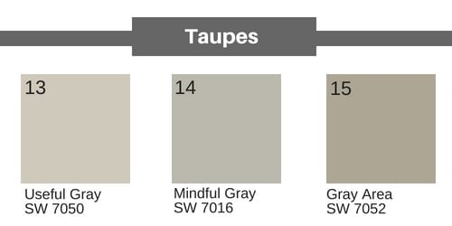 neutral paint colors - taupe shades