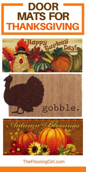Thanksgiving door mats - how to protect hardwood floors on Thanksgiving