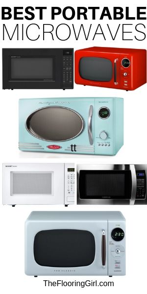 freestanding microwaves that are portable and can sit on countertops